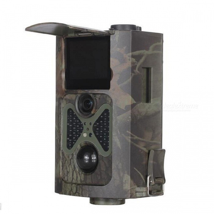 HC-500A 2.0 CMOS HD Infrared Monitoring Hunting Camera w/ ControllerCamcorders<br>Form  ColorCamouflage GreyModelHC-500AShade Of ColorMulti-colorMaterialABSQuantity1 DX.PCM.Model.AttributeModel.UnitImage SensorOthers,COMSImage Sensor SizeOthers,2.0 inchAnti-ShakeYesFocal Distance3.6 DX.PCM.Model.AttributeModel.UnitFocusing Range65ft/20 mBuilt-in SpeedliteNoWide Angle35°Aperture105Effective Pixels1200dpiMax. Pixels12 millionPicture FormatsJPEGStill Image Resolution1080PVideo FormatAVIVideo Resolution1080P (25fps), 720P (25fps), VGA(30fps)Video Frame Rate30Cycle RecordYesISO200Exposure Compensation3;-2Supports Card TypeSD,Others,SIMSupports Max. Capacity32 DX.PCM.Model.AttributeModel.UnitBuilt-in Memory / RAMNoInput InterfaceOthers,USBOutput InterfaceAVLCD ScreenYesScreen TypeTFTScreen Size2.0 DX.PCM.Model.AttributeModel.UnitScreen Resolution1080PBattery included or notNoBattery Measured Capacity 5200 DX.PCM.Model.AttributeModel.UnitNominal Capacity5200 DX.PCM.Model.AttributeModel.UnitBattery TypeAABattery Quantity4xAA/ 8xAA DX.PCM.Model.AttributeModel.UnitVoltage5~12 DX.PCM.Model.AttributeModel.UnitBattery Charging Time4Low Battery AlertsYesWaterproofYesSupported LanguagesEnglish,Simplified ChinesePacking List1 x Digital camera1 x Wireless remote control1 x TV line1 x USB line1 x Binding rope1 x Users Manual 1 x Antenna<br>