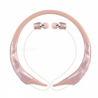 Bluetooth 4.1 Stereo Retractable AptX Sports Headphone - Pink