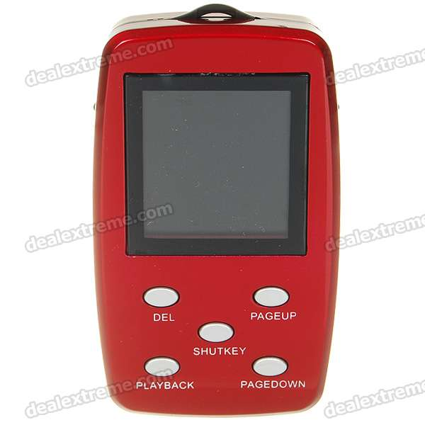 "USB Rechargeable Mini 1.44"" LCD 2.0M Pixels CMOS Video Camera - Red (TF Slot)"