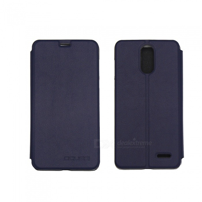 OCUBE PU Leather Flip-open Case for LEAGOO M5 PLUS - Deep Blue