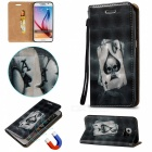 BLCR 3D Embossed Poker Pattern Magnetic PU Case for Samsung Galaxy S7