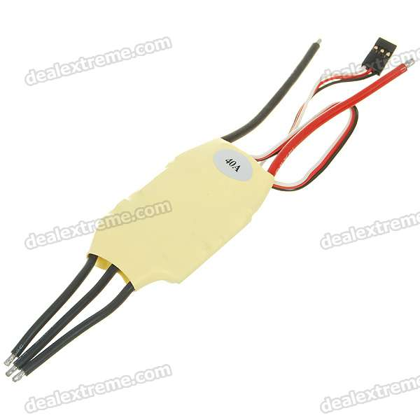 Speed Controller 40A BEC for Brushless Motors on R/C Helicopters