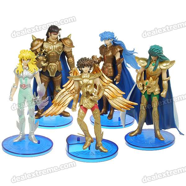 Gold Saints PVC Anime Figures (5-Figure Set)