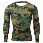 Outdoor Polyester Fiber Long-sleeved Men's Slim Camouflage T-Shirt (M)