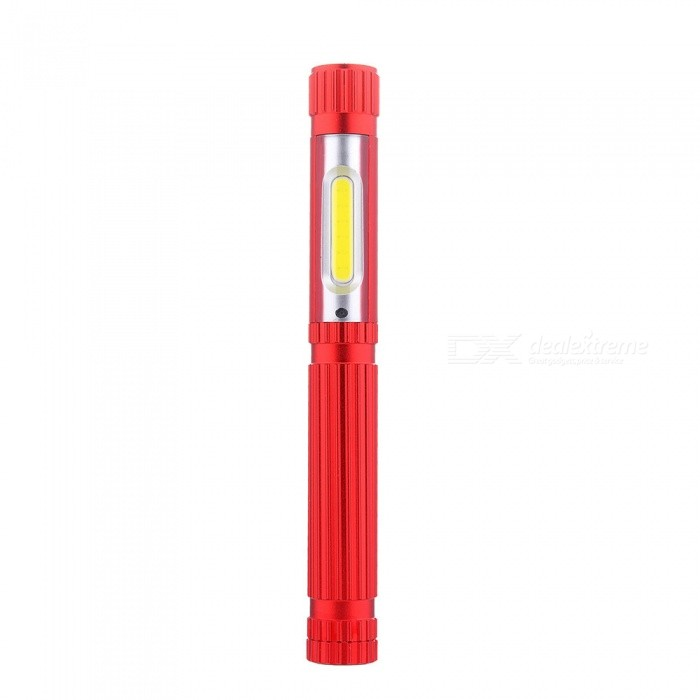 New Aluminum Alloy COB USB Charging LED Reading Light / Pen Lamp - Red