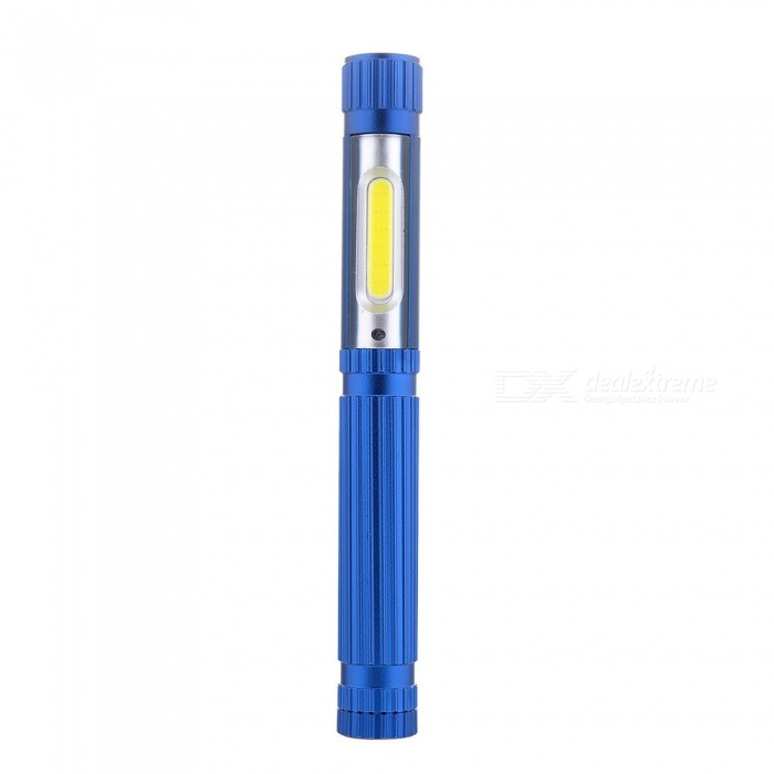 New Aluminum Alloy COB USB Charging LED Reading Light/ Pen Lamp - Blue