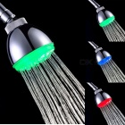 8010-A4 Grade A Chrome RGB Changing LED Rain Shower Head - Silver