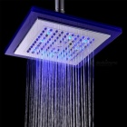 "8"" Grade A ABS Chrome Finish Square RGB LED Rainfall Shower Head"