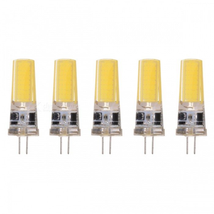JRLED G4 5W 2508 COB Cold White LED Light Bulbs (5PCS)