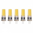 JRLED G4 5W 2508 COB Cool White LED Light Bulbs (5PCS)