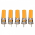 JRLED G4 5W 24-2508 COB Warm White LED Light Bulbs (5PCS)
