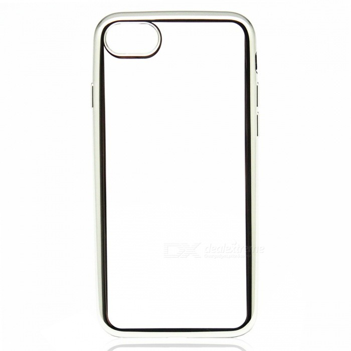 Electroplating TPU Back Case Cover for IPHONE 7 - Silver + Transparent