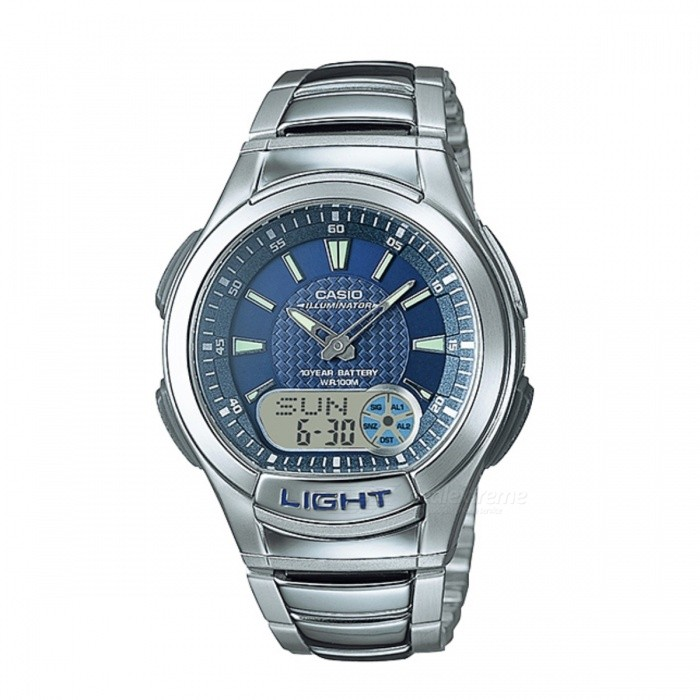 Casio AQ-180WD-2AVDF Men's Casual Watch - Silver + Blue (Without Box)