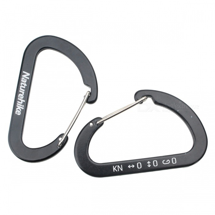 NatureHike 6.5cm Type-D Alloy Quick Release Buckle - Black (2 PCS)