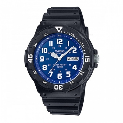 Casio MRW-200H-2B2VDF Casual Watch - Black/Blue (Without Box)