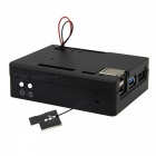 Geekworm CNC Aluminum Alloy Case for Lattepanda 2G/4G Board - Black