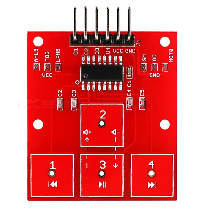 OPEN-SMART 4-CH Digital Capacitive Touch Sensor Module for Arduino