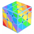 YJ 3 x 3 x 3 ABS Inequilateral Magic IQ Cube - Blue + Multicolor