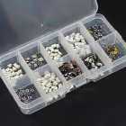 250Pcs Push Button Switch SMD DIP Assortment Kit with Box