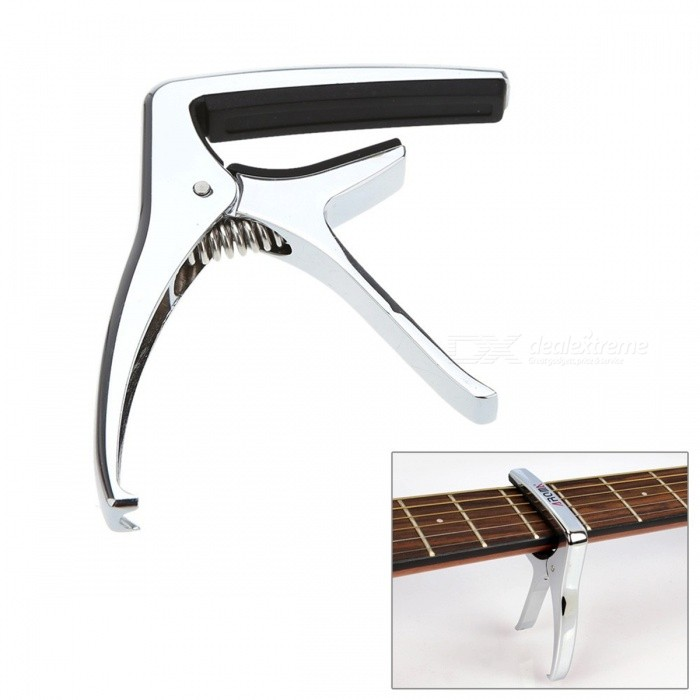 Aroma AC-21 Guitar Capo Metal Alloy Pin Puller for Guitars - Silver
