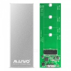 Maiwo K16N USB3.1 to NGFF Mobile Hard Disk Enclosure Box - Silver
