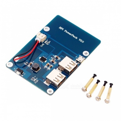 Power Supply Expansion Board for Raspberry Pi 3 Model B - Blue
