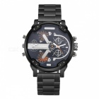 CAGARNY 6820 Stainless Steel Quartz Analog Wrist Watch -Black + Orange