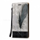 3D Embossed Feathers Pattern Magnetic PU Case for Huawei P8 Lite
