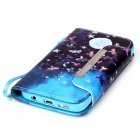 3D Moon Pattern Protective Leather Wallet Case for Samsung Galaxy S7