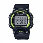Casio W-736H-3AVDF Digital Watch - Black/Green (Without Box)