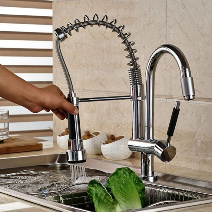 F-0546 Brass Spring 360 Degree Rotatable Kitchen Faucet