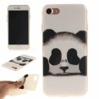 Panda Pattern TPU Protective Back Case  for IPHONE 7 - White + Black