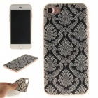 Totem Pattern TPU Protective Back Case for IPHONE 7 - White + Black