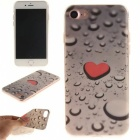 Heart + Raindrop Pattern TPU Protective Back Case for IPHONE 7 - Red