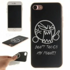 Angry Pattern TPU Protective Back Case for IPHONE 7 - Black + White