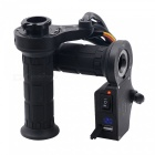 QooK PC & Metal Electric Adjustable Heated Molded Grips - Black + Blue
