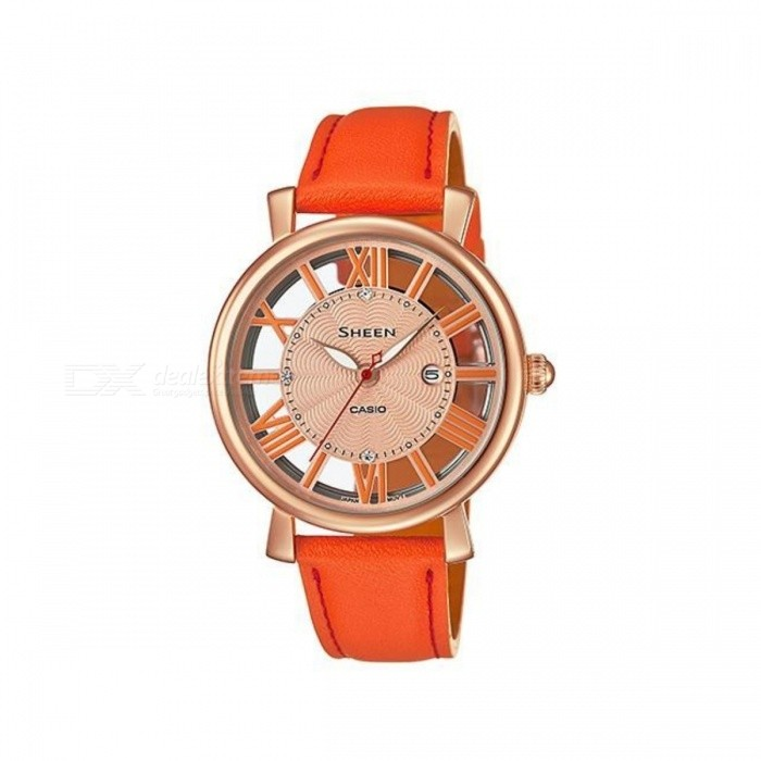 Casio SHE-4047PGL-4AUDR montre analogique - or + orange (sans boîtier)