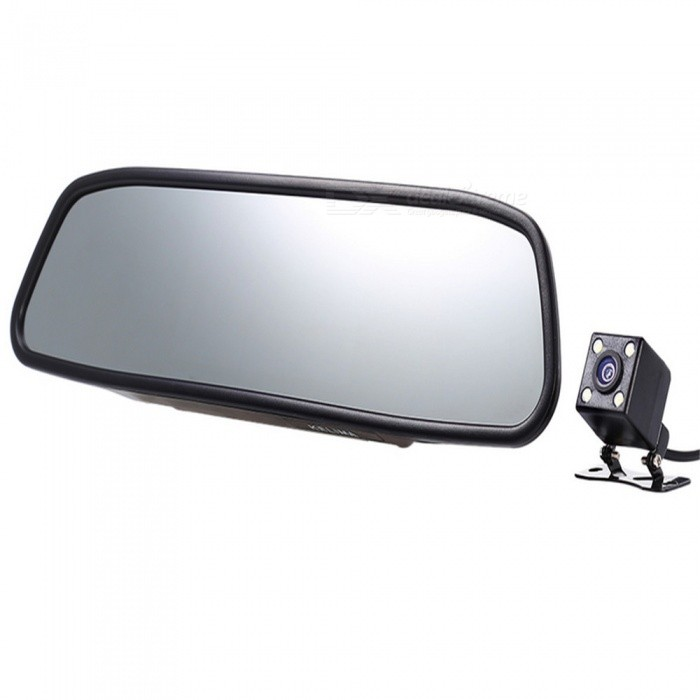 KELIMA 4.3 Inch TFT Screen Car Reversing Rearview Mirror - Black