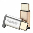 REMAX OTG Micro USB to Type-C Adapter for Fast Charging - Golden