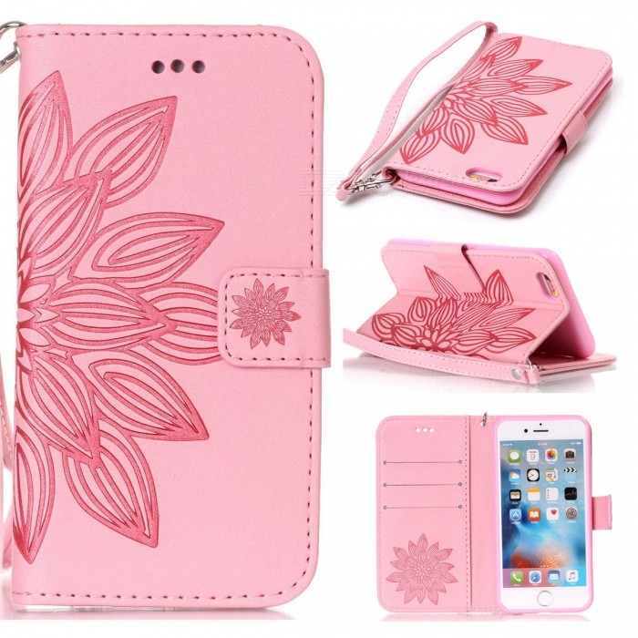 BLCR 3D Flower Pattern PU Wallet Case for IPHONE 6 / 6S - PinkLeather Cases<br>Form ColorPinkQuantity1 DX.PCM.Model.AttributeModel.UnitMaterialPU + TPUCompatible ModelsIPHONE 6S,IPHONE 6StyleFlip OpenDesignMixed Color,With Stand,Card Slot,With StrapPacking List1 x Case1 x Strap<br>
