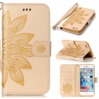 Buy BLCR 3D Flower Pattern PU Wallet Case IPHONE 6 / 6S - Golden