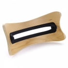 Environmental Friendly Wood Holder for Tablet, Laptop - Yellow + Black