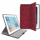 Protective PU + PC Flip Open Case Cover for IPAD 2 / 3 / 4 - Red