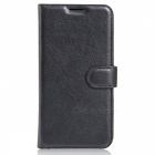 Protective PU Wallet Case w/ Card Slots for DOOGEE X9 / X9 PRO - Black