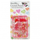 DIY 3D Crystal Puzzle Heart Model Phone Chain - Red