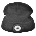 SUNREE LED Lighted Elastic Soft Hat Cap for Cycling Camping - Black