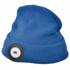 SUNREE LED Lighted Elastic Soft Hat Cap for Cycling Camping - Blue
