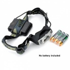 Waterproof Portable 3-LED 3-Modes Cold White Light Headlamp - Black
