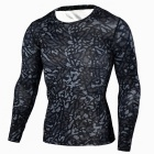 Outdoor Sports Men's Long-sleeved Slim Fitness Shirt - Black (XL)