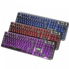 USB Wired 3 Backlight Gaming Mechanical Feeling Keyboard - Black